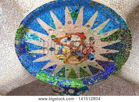 Mosaic Sun Barcelona Gaudi