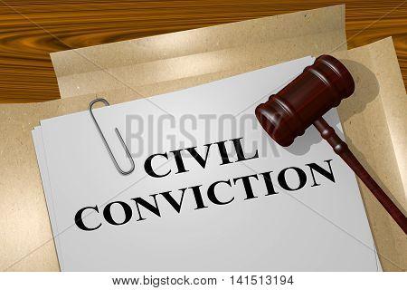 Civil Conviction - Legal Concept