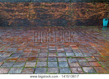 Brick Dirty Old Wall