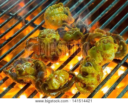 Grilled Seafood On The Grill