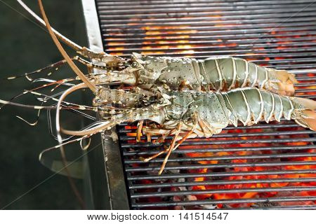 Grill Cooking Seafood