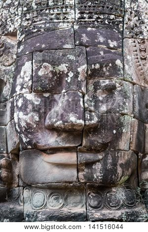 Stone Faces, Bayon Temple, Angkor, Cambodia