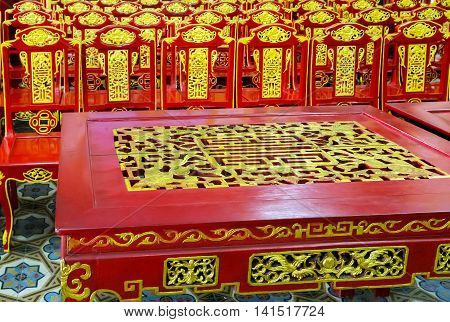 Table Chair Temple Asia