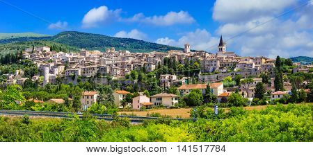 Most beautiful villages of Italy  - Spello in Umbria