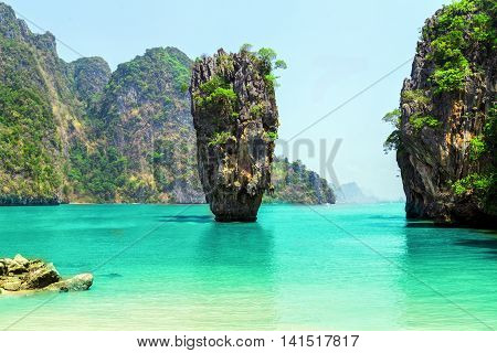 Thailand Beautiful tropical landscape, Scenery sea and island, Adventures and travel concept