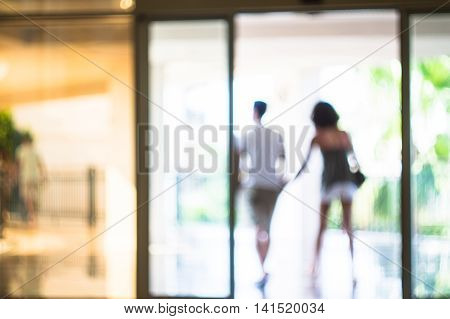 Defocused Couple Walking
