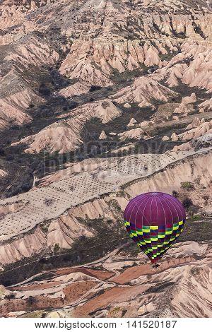 Hot Air Balloon On Cappadocia