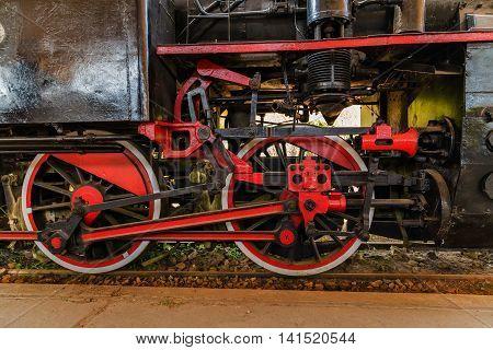 train red steam old closeup railroad railway machine classic transportation trip