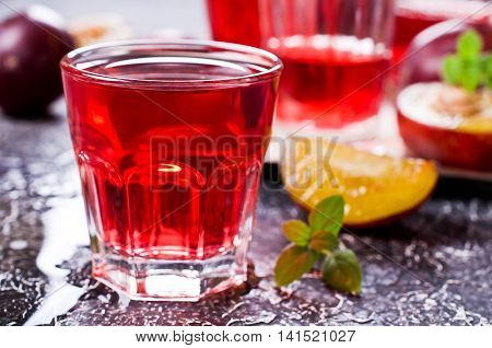 Transparent Plum Drink