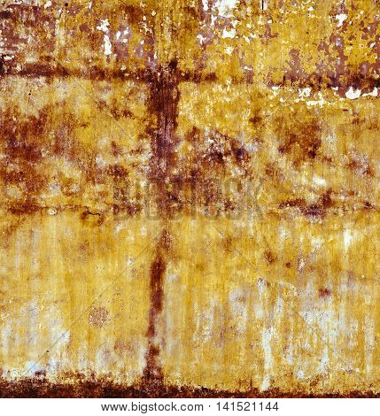 Yellow Wall Stone Texture Old Background