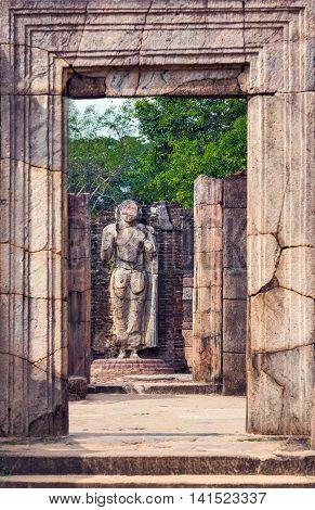 Hatadage Ruins In Polonnaruwa City Temple Unesco