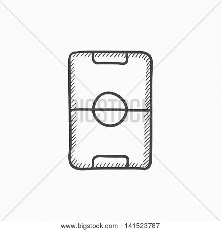 Stadium layout vector sketch icon isolated on background. Hand drawn Stadium layout icon. Stadium layout sketch icon for infographic, website or app.