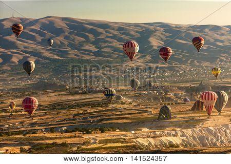 Hot Air Balloons Are Taking Off, Cappadocia