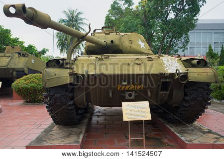 DA NANG, VIETNAM - JANUARY 06, 2016: Light tank M41