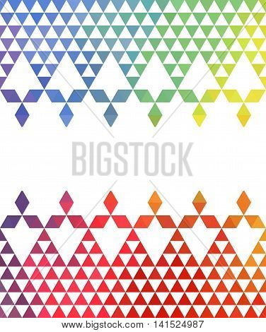 Vector template of background. Polygonal Pattern for design of packing box, greeting cards, etc.