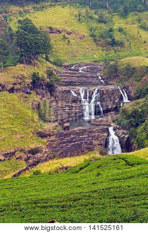 Water Falls Little Niagara Of Sri Lanka Waterfall