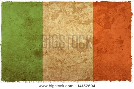 Flagge von Irland - alt und abgenutzt Papier-Stil