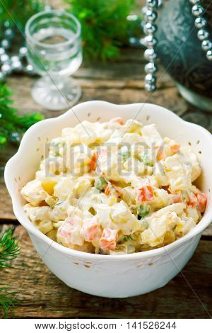 Salade Olivier Russian salad traditional Russian New Year's salad