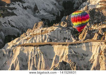 Hot Air Balloon On Cappadocia, Turkey