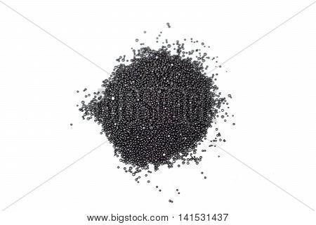 A pile of gunpowder isolated on white background