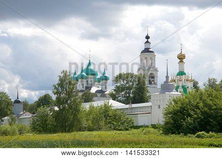 Vintage Svyato-Vvedensky Tolgsky convent, cloudy july afternoon. Yaroslavl, Russia