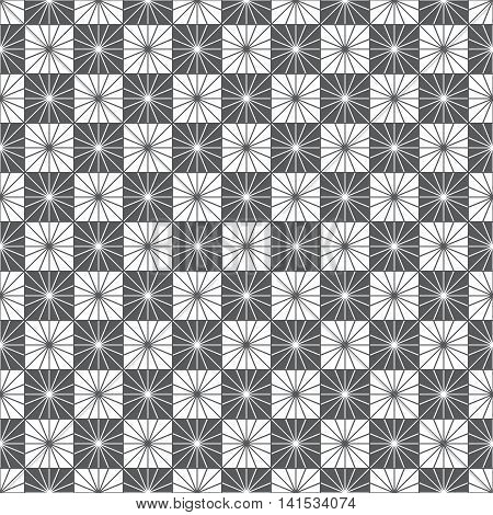 Checkered seamless pattern. Classical stylish texture with thin lines. Regularly repeating geometrical linear grids. Vector seamless background