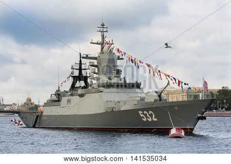 St. Petersburg, Russia - 31 July, The new warship