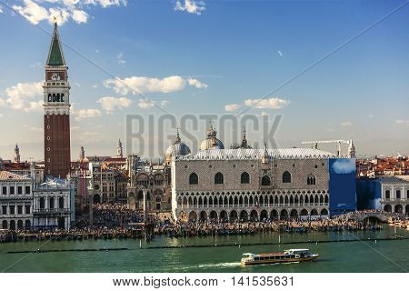 Bell Tower Of San Marco From The Other Side Of Lagoon