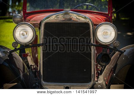 Lviv Ukraine - June 12 2015:Old retro car GAZ-A exhibited for participation in festival Leopolis grand prix 2015 Ukraine.