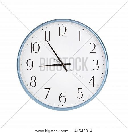 Five to nine o'clock on the dial