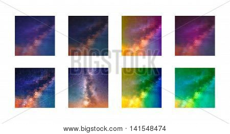 Abstract Geometric backgrounds. Polygonal vector design. Vector texture