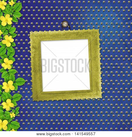 Beautiful Yellow Summer Flowers On Abstract Background