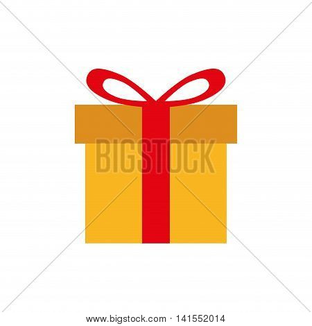 gift bowtie merry christmas celebration icon. Isolated and flat illustration. Vector graphic