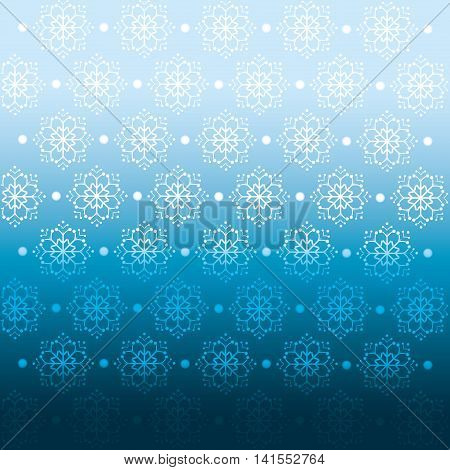 winter blue background crop, vector illustration pattern