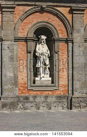 Carlo Iii Di Spagna Staue In Naples