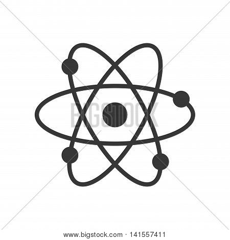 atom science chemistry molecule icon. Isolated and flat illustration. Vector graphic
