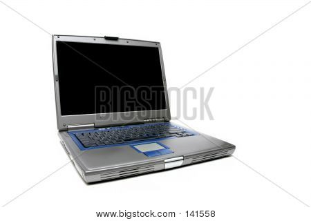 Notebook laptop sobre branco