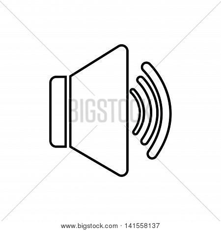 volume music sound dj melody icon. Isolated and flat illustration. Vector graphic