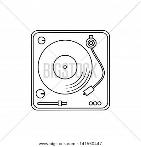 vinyl music sound melody icon. Isolated and flat illustration. Vector graphic