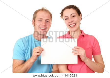 Color Couple With Card For Text