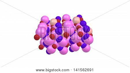 Topaz is a silicate mineral of aluminium and fluorine. Topaz crystallizes in the orthorhombic system and its crystals are mostly prismatic terminated by pyramidal and other faces. 3d illustration