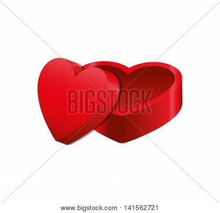 heart box love romantic passion icon. Isolated and flat illustration. Vector graphic