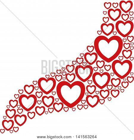 heart love romantic passion icon. Isolated and flat illustration. Vector graphic