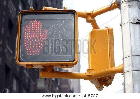 Don'T Walk New York Traffic Light