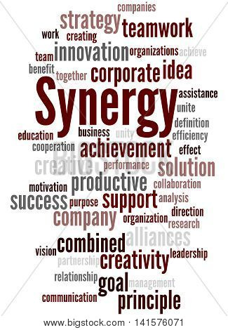Synergy, Word Cloud Concept 8
