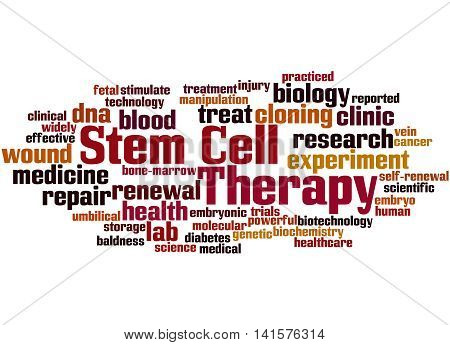 Stem Cell Therapy, Word Cloud Concept 7