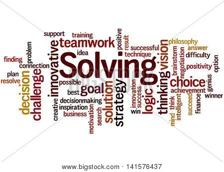 Solving, Word Cloud Concept 9