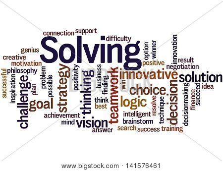 Solving, Word Cloud Concept 8