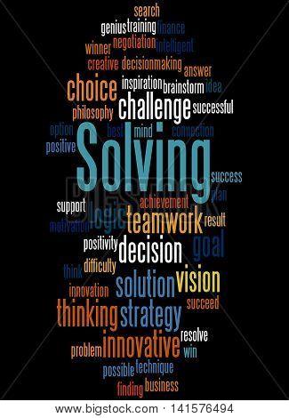 Solving, Word Cloud Concept 6