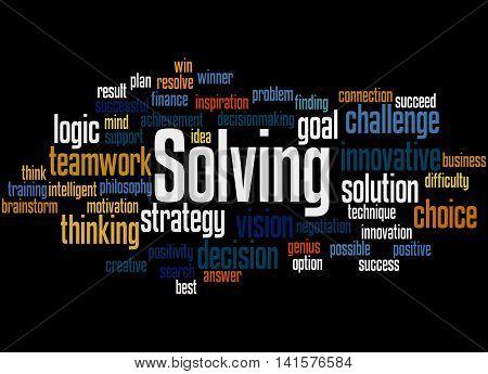 Solving, Word Cloud Concept 3